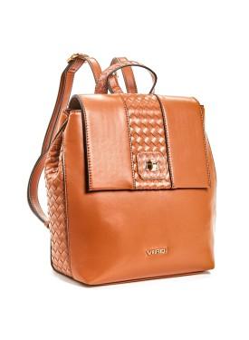 Backbag by VERDE FASHION 16-5872 camel