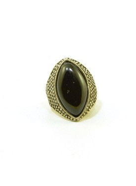 Antique ring with black stone