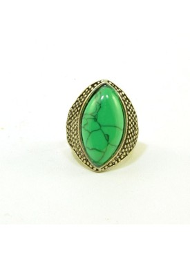 Antique ring with green stone