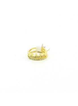 chevalier ring with crown in gold colour