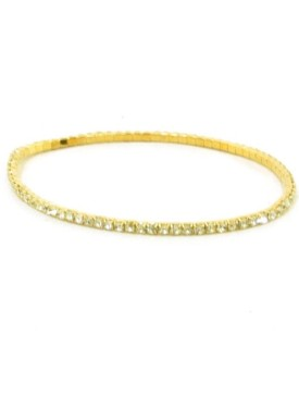 Bracelet in gold colour with silver stones