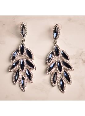 earrings 33-126 blue