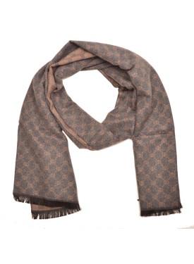 Men's scarve 49-014 beige-grey