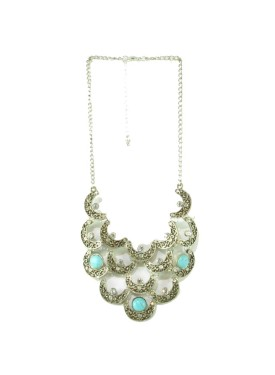Antique necklace with blue stones