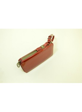 Red wallet in patent leather