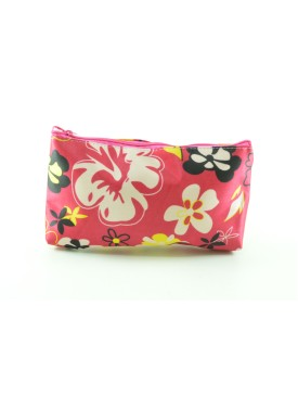 Pink beauty case with multi-colourn flowers